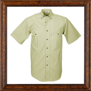 Mens Safari Short Sleeved Shirt without epaulets