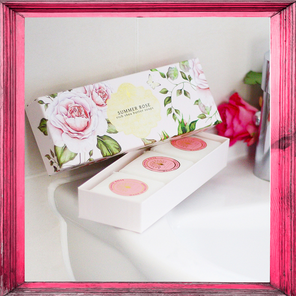 Summer Rose Gift Boxed Hand Soaps