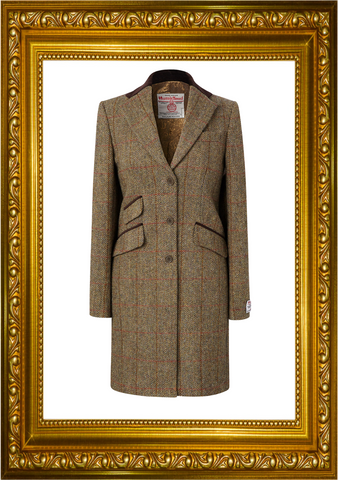 Harris Tweed Ladies Tori 3/4 Coat - Honey