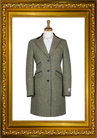 Harris Tweed Ladies Tori 3/4 Coat - Lovat