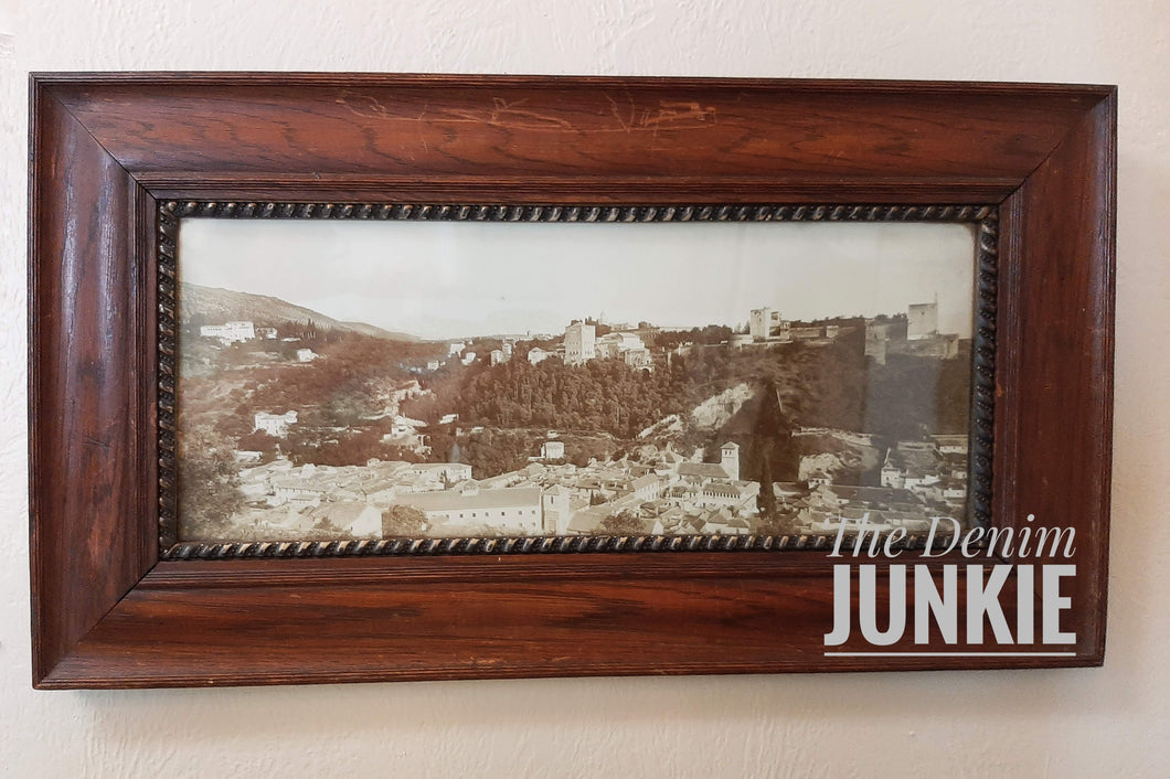 Antique Frame with picture of city