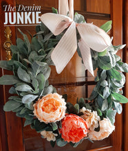 "Load image into Gallery viewer, 20"" spring lambs ear wreath"