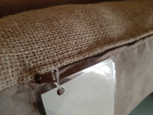 Burlap throw pillows
