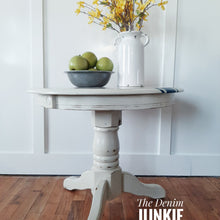 Load image into Gallery viewer, Oak Side Tables with linen stripe