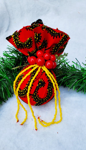 Ornament - Yellow Beads