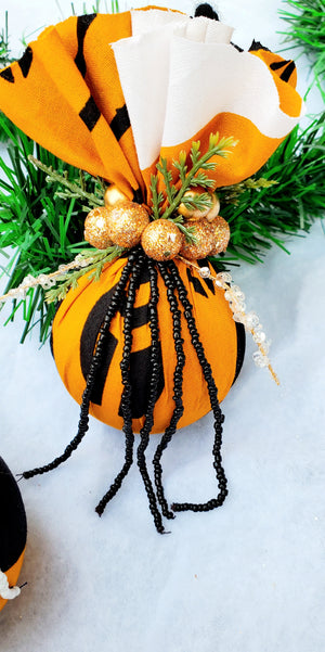 Ornament - Black and White Beads