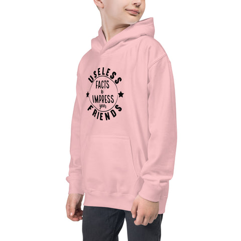 """USELESS FACTS TO IMPRESS YOUR FRIENDS"" Kids Hoodie"