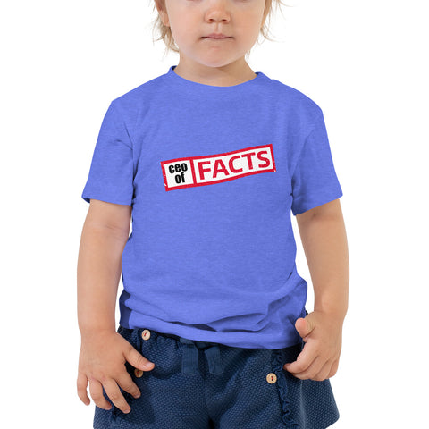 Ceo of Facts Toddler Short Sleeve Tee