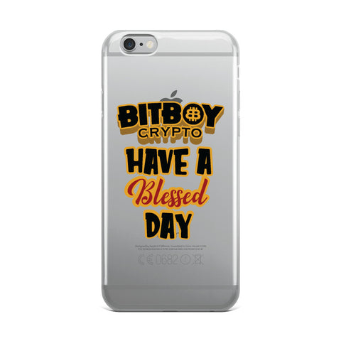 Bitboy Have a Blessed Day iPhone Case