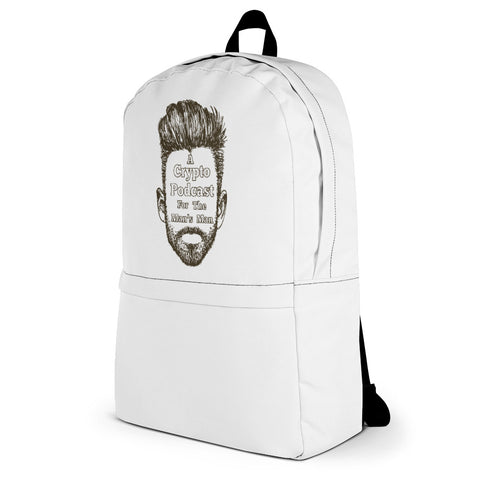 """A Crypto Podcast For The Man's Man"" Backpack"