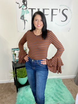 Double Bell Casual Sleeve Top