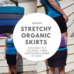 Ladies organic plain skirt