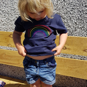 Children's organic Rainbow tee