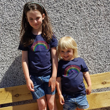 Load image into Gallery viewer, Children's organic Rainbow tee