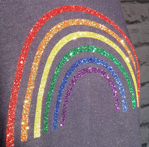 Glitter rainbow Tee Shirt and Vest
