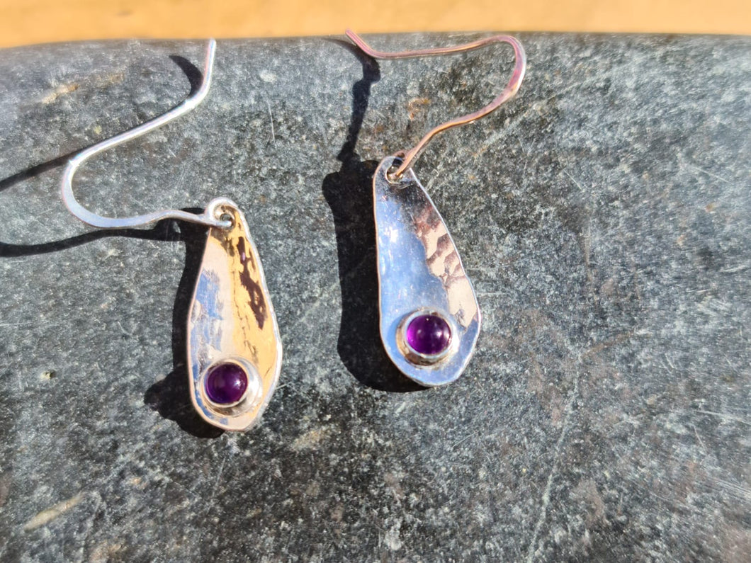 Amethyst droplet earrings