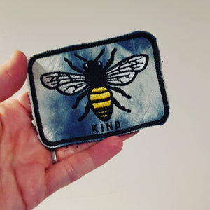 Tie Dye bee kind badge