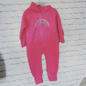 Baby children onesie rainbow custom all in one