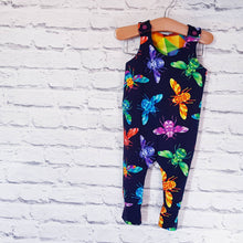Load image into Gallery viewer, Handmade baby Children toddler dino dungarees