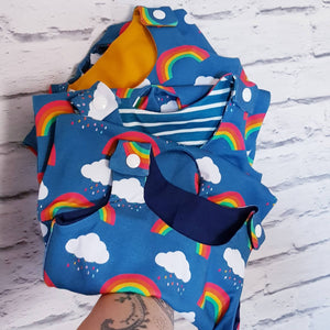 Handmade baby Children toddler dino dungarees