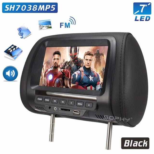 Universal 7 inch Car Headrest Monitor - Gadetholic
