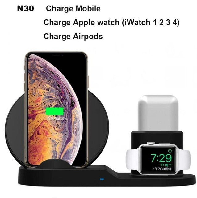 3 In 1 Fast Wireless Charger - Gadetholic