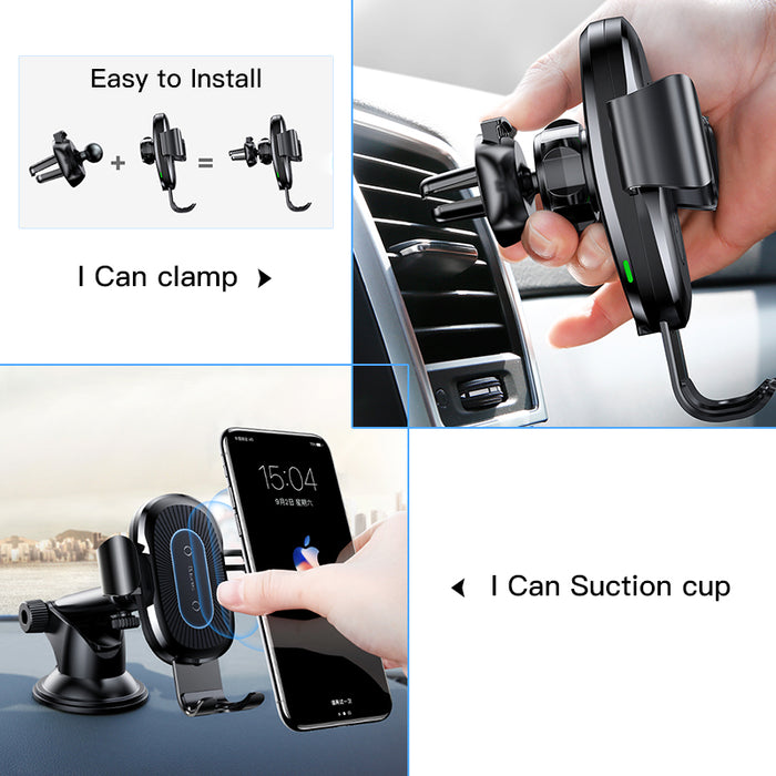 2 in1 Wireless Car Charger - Gadetholic