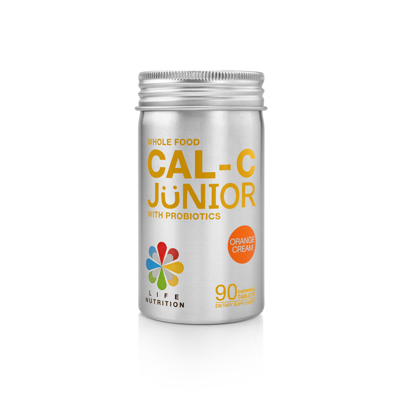 WHOLE FOOD CAL-C JUNIOR WITH PROBIOTICS | ORANGE FLAVOR