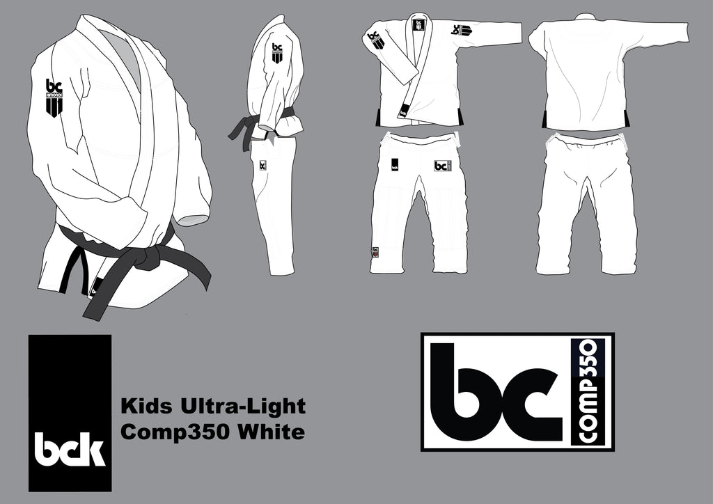 BCK Kids Comp350 White- New