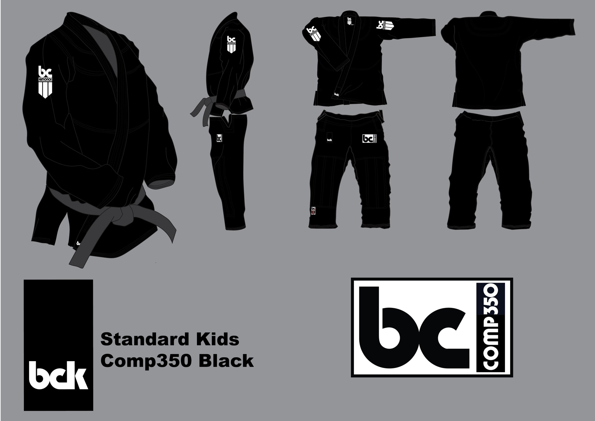 BCK Kids Comp350 Black