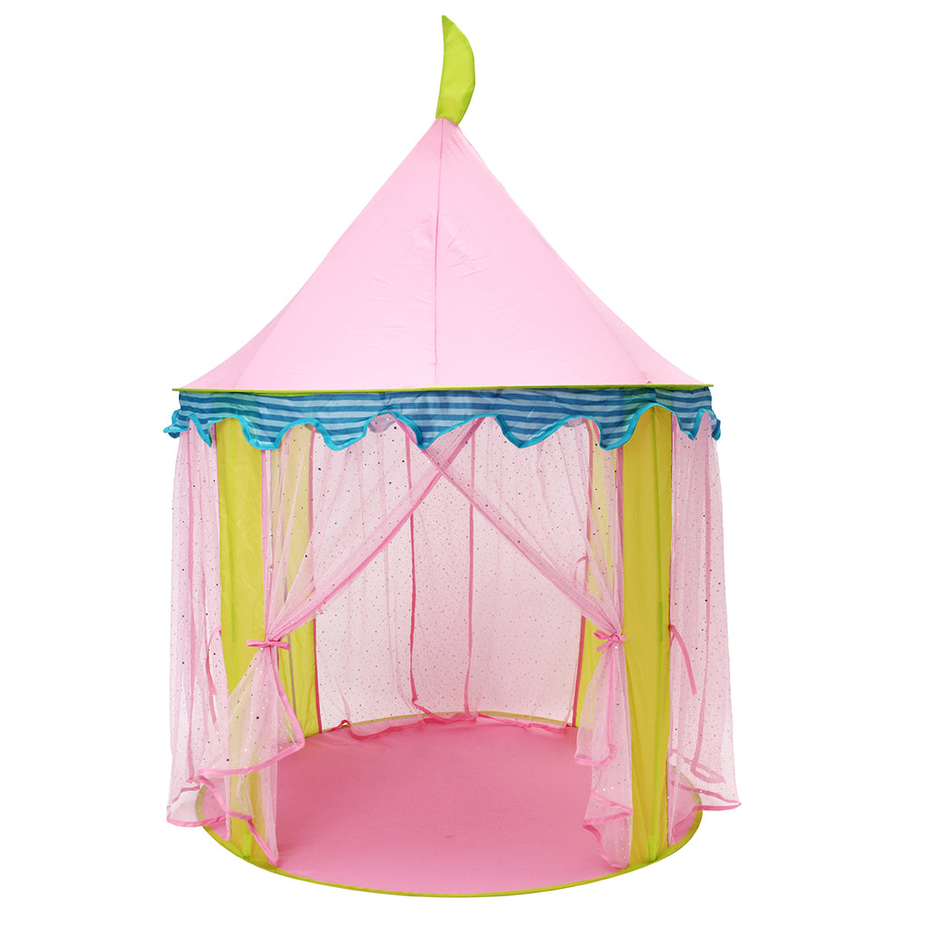 Kids Portable  Pink Princess Tent Folding Children Toy House Kids Mosquito Large Game Room