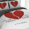 "POSTELJINA PIERRE CARDIN ""HEART RED"" 140x200"