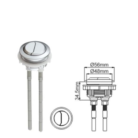 Bestter 48mm Round Dual Flush Toilet Push Button