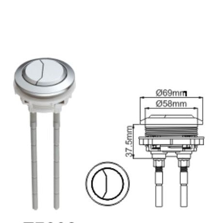 Bestter 58mm Round Dual Flush Push Button