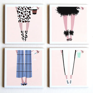 Bottoms Up Fashion Coasters - The Boutique by Sour Apple Beauty Bar