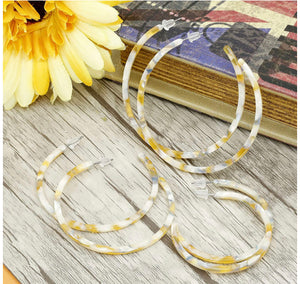 Acrylic Hoop Earrings - The Boutique by Sour Apple Beauty Bar