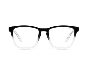 HARDWIRE MINI Square Blue Light Glasses | Black/Clear Fade - The Boutique by Sour Apple Beauty Bar