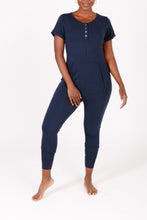 "Load image into Gallery viewer, ""The S+T Anyday Romper"" in Naturally Navy"