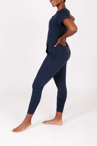"""The S+T Anyday Romper"" in Naturally Navy"