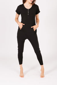 """The S+T Anyday Romper"" in Midnight Black"