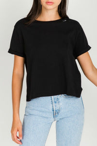 """REDHEAD"" Embroidered Cropped Tee 