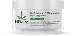 FRESH COCONUT & WATERMELON herbal sugar body scrub - The Boutique by Sour Apple Beauty Bar