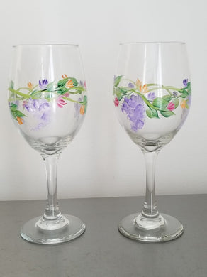 Hand Painted Glasses-Stems - The Boutique by Sour Apple Beauty Bar