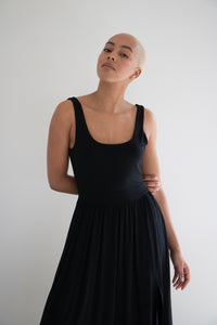 The Penelope Midi Dress in Black