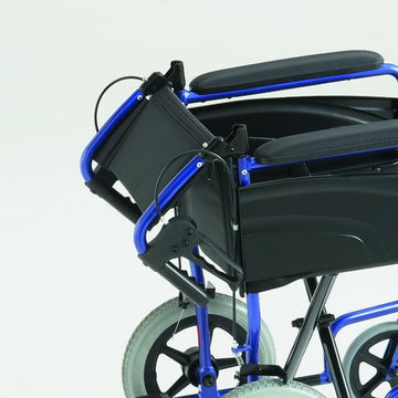 Invacare Alu-Lite Transit Wheelchair (Blue)