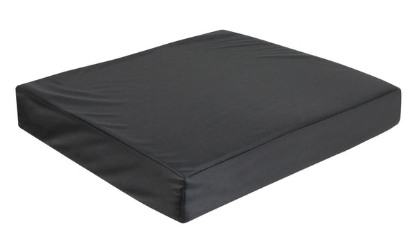 black square cushion in memory foam