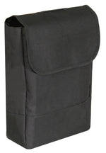 Black wheelchair Pannier bag with top fold-over  fastening