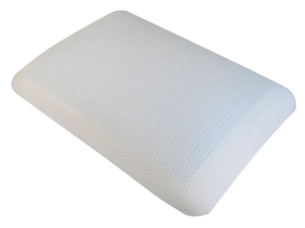 White Memory Foam Pillow on a white background