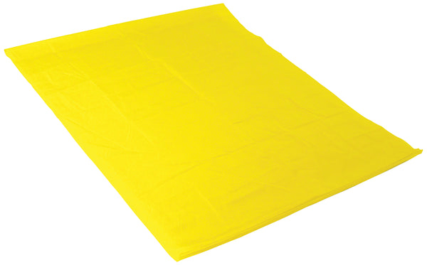 Yellow slide sheet on white background