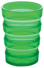 Green plastic cup with ml indicators